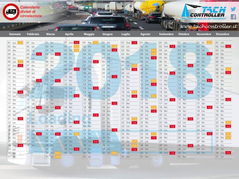 Calendario Divieto Circolazione Mezzi Pesanti.News Direttive E Calendario Per Le Limitazioni Alla